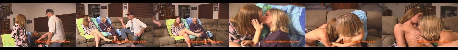 Dwie dupery zabawiają się kiedy ojeciec siedzi w pokoju obok