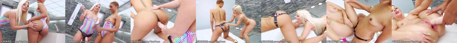 2 lesby i doczepiany kustas
