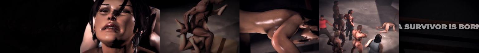 Lara Croft gwałcona grupowo