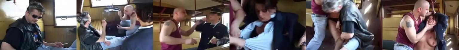 Konduktorka grupowo gwałcona w przedziale