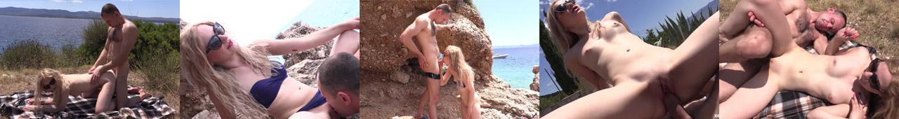 Sara pieprzy się z Tomkiem na szczecińskim wybrzeżu