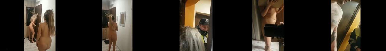 Nagie dziewczyny z Polski odbierają pizzę