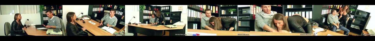 Blond sex bomba z Polski ruchana przez szefa